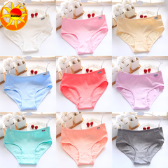 5 Pack Hot Sale Women's Wear Cotton Stretch Underwear Briefs  Low-waist Lingerie 5 pcs colors random XXL