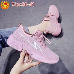 Baldur Women's single shoes ladies casual sneakers students fashion mesh shoes gym sports shoes pink 39