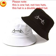 One hat double-face men's women's caps outdoor travel caps work hats sunshade hat something hats Black 56-58cm