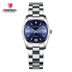 Fashion Watches Women Luxury Stainless steel Wristwatches Analog Quartz  Women's Relogio Feminino Blue one size