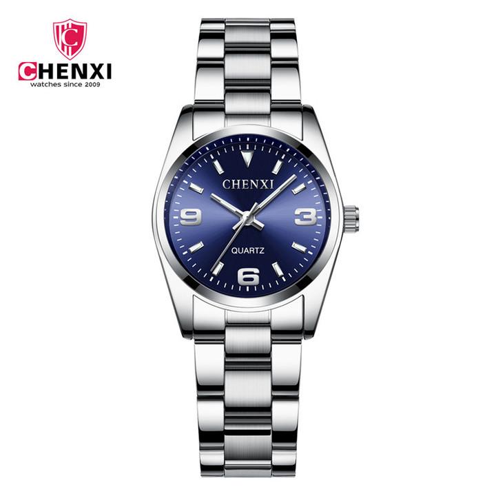 Fashion Watches Women Luxury Stainless steel Wristwatches Analog Quartz  Women's Relogio Feminino Blue one size