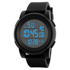 Luxury Mens Sports Watches Dive 30m Digital LED Military Watch Men Fashion Casual Electronics Watch black one size