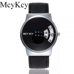 Fashion Unisex Wristwatches Women Leather Strap Watch Men Quartz Watch Gift Clock Relojes  Femme black one size