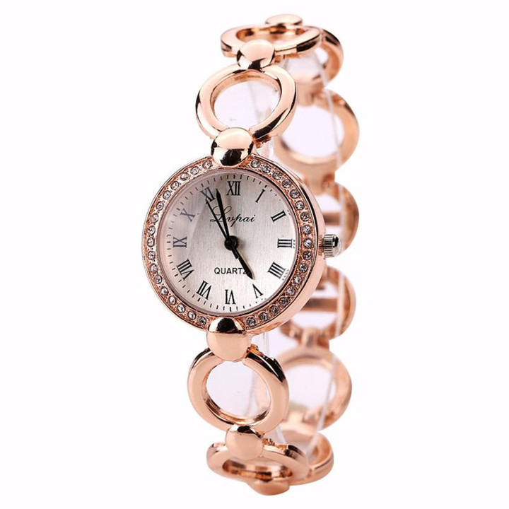 Reloj mujer fashion women ladies dress Surround bracelet watch luxury Rhinestone wrist watches Clock gold one size