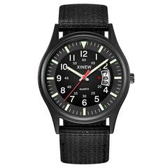 Round Dial Nylon Strap Band Men Boy Military Army Date Quartz Wrist Watch Gift mens watche top brand black one size