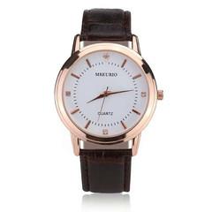 Lovers Quartz Watches Men Wristwatch Relogio Masculino Women Clock  Students  Gift Dropshipping Man Brown one size
