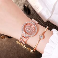 Women Watches Luxury Crystal Diamond Quartz Ladies Rose Gold Watch Stainless Steel Clock Dress Watch Rose gold one size