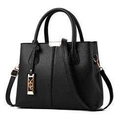 Women's Handbag New Women Messenger bag Casual Women PU Leather Handbags Lady Classic Shoulder Bags Black One size