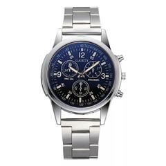 GAIETY Fashion Men's Steel Belt Analog Sport Quartz Wrist Watch relogio masculino New Arrival Black one size