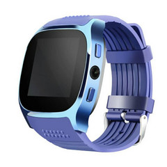 T8 Bluetooth Smart Watch With Camera Whatsapp Support SIM TF Card Call Smartwatch For Android Phone Blue one size