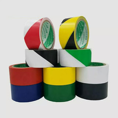 Waterproof PVC Safety Warning Tape Anti-Skid Caution Barrier Carpet Sticker For Warehouse Factory Black 48mm*18m