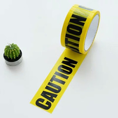 48mm*25m OPP Warning Tape Danger Caution Barrier Remind Work Safety Adhesive Sticker For Mall Store