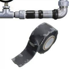 1PCS Electric High Pressure Self-adhesive Tape Water Pipeline Repair Tape Self-fluxing Silicone Tape Black
