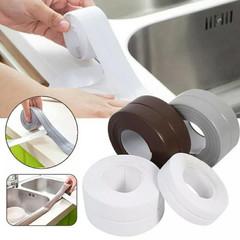 1 PCS PVC Material Kitchen Bathroom Wall Sealing Tape Waterproof Mold Proof Adhesive Tape 3.2mx2.2cm