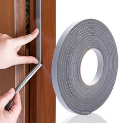 5M Adhesive Foam Weather Draught Excluder Seal Door Window gap insulation rubber tape width 15MM /30 Black 15mm*5m