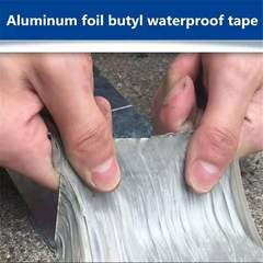 Aluminum Foil Butyl Tape Self Adhesive High temperature for Roof Pipe Repair Stop Leak Sticker White 5m*5cm*1.0mm