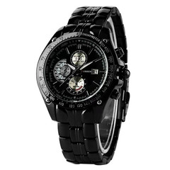 Men Watches Men Wallets Folding Clasp With Safety Quartz  Christmas Gift Set For Boyfriend Watch