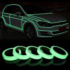 1PC 3M Green Luminous Tape Glow In The Dark Self-adhesive Warning Security Tape Glow In the Dark 10mm