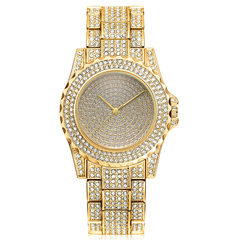 Men Hip Hop Gold Silver Luxury Bling Iced Out Full CZ Crystal Watch Cuban Sandblast Bracelet Set gold watch one size