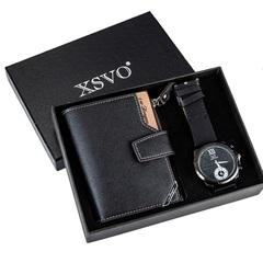 Men's Watch Gifts Set High Quality Wallet Men Watches For Men Gift Luxury Quartz Wrist Watch black one set