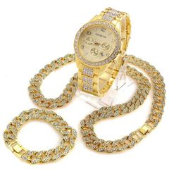 [Valentine Gifts] 3 Pcs/Set Iced Out Watch 18