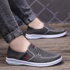 denim canvas shoes men's new style  foot loafers men's shoes gray 39 canvas