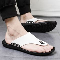 Shoes men shoes slippers shoes casual shoes men slippers shoes men shoes sandals shoes flip flops White 40
