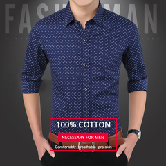 Shirts New men long sleeve shirt pure cotton youth business casual shirts khaki 3XL
