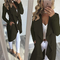 Coats New Women's Clothes Wear Mid-Autumn and Winter Long Fabric Windshield Open-Shirt Coats jackets green XL
