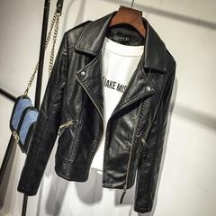 Jackets Women Slim Cool Lady PU Leather Jacket Sweet Female Zipper Faux Femme Outwear Coat Plus Size black M