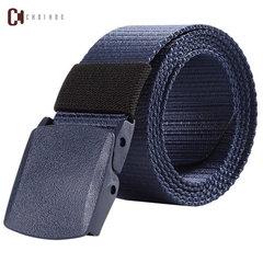 Digital camouflage canvas belt Men's Fashion Accessories outdoor nylon men's canvas belt A9015 blue 130cm