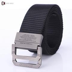 Fashion Men's Canvas Belt Men's Fashion Accessories Outdoor Nylon Belt for Young Men A9016 black 120cm