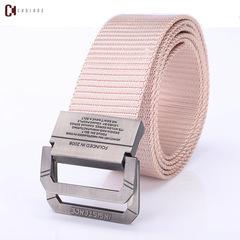 Fashion Men's Canvas Belt Men's Fashion Accessories Outdoor Nylon Belt for Young Men A9016 khaki 120cm