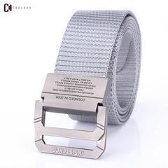 Fashion Men's Canvas Belt Men's Fashion Accessories Outdoor Nylon Belt for Young Men A9016 grey 130cm