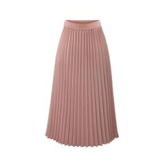 Women's dress long chiffon skirt show thin hundred pleats folding skirt women dresses C9029 l pink