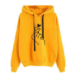 Fashion loose casual Specific heart female clothing multi-color spot Sweaters Women's Clothes C9032 yellow m