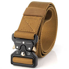 Men's multifunctional outdoor Belts snake buckle special nylon inner belt Fashion Accessories A9038 wolf brown 125cm