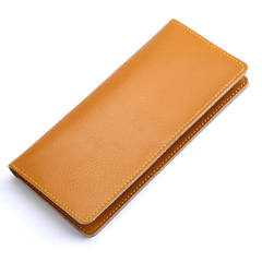 Women's Bags Leather simple ladies purse fashion multifunctional Wallets long handbags A9050 yellow one size