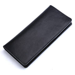 Women's Bags Leather simple ladies purse fashion multifunctional Wallets long handbags A9050 black one size