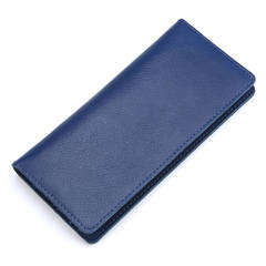 Women's Bags Leather simple ladies purse fashion multifunctional Wallets long handbags A9050 blue one size