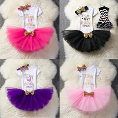 Kids Sets Children Toddler Baby Girls Bowknot Cute Dress Skirts Clothes Princess Clothing Dresses purple 24M