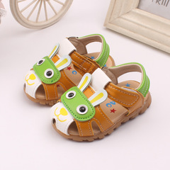 Newborn Infant Kids Girls Brown White Cute Rabbit Baby Toddler Sandal Sandals Shoes Slip-ons brown 15