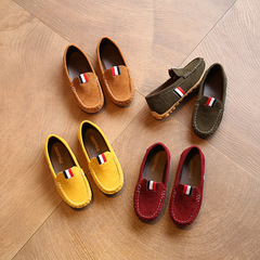 Kids Boys Children Cool  Yellow Brown Wine Red Slip-ons Loafers Nude Peas Boat Shoes Boy Slip-on Green 30
