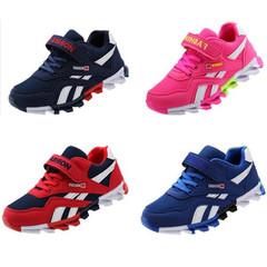 Kids Children Girls Boys Blue Breathable Sneakers Sports Jogging Sneaker Sport Girl Boy Shoes Deep blue 40