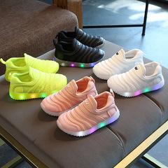Kids Children Girls Boys White Luminous Sneakers Sports Jogging Sneaker Sport Girl Boy Shoes Green 30