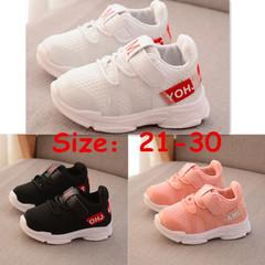 Kids Children Girls Boys White Black Breathable Sneakers Sports Jogging Sneaker Sport Girl Boy Shoes white 25