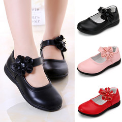 Kids Girls  Leather Sweet Black White Red Princess Slip-ons Loafers Nude Peas Boat Shoes Slip-on pink 26