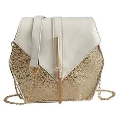 New Fashion Female Square Bag Women's High Quality PU Leather Handbag Shoulder Bag Messenger Bag white one size