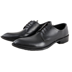 Classic Leather Official Formal Shoes; Lace Up Men Office Shoes Black 6 Leather