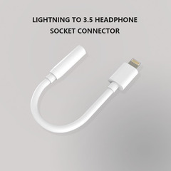 iPhone Lightning to 3.5mm Audio Headphone Jack Adapter Adapter Converter for iPhone 7 white white